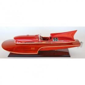 Maqueta naval lancha motora hidroplano