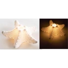 Porta vela estrella de mar de porcelana