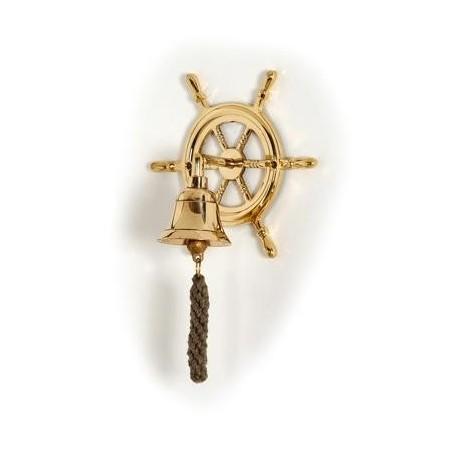 Campana náutica con rueda de timón
