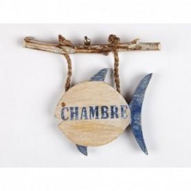 Cartel Chambre con forma de pez