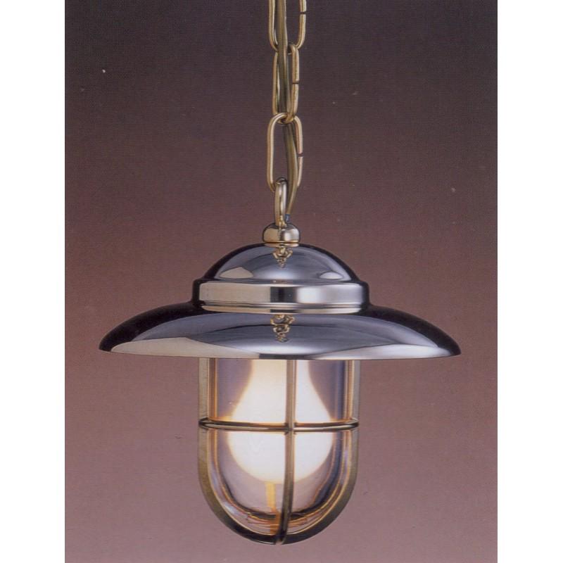 Lámpara de techo marinera de latón macizo