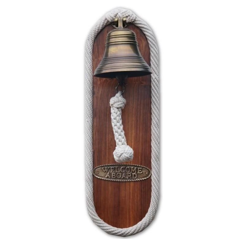 Plafón náutico con campana y rabiza
