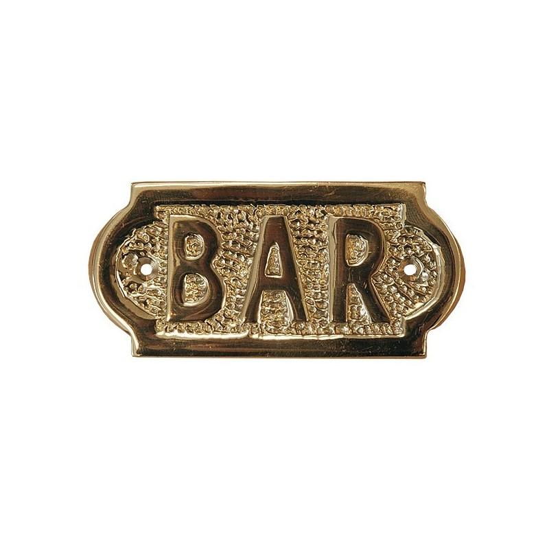 Placa náutica de latón Bar