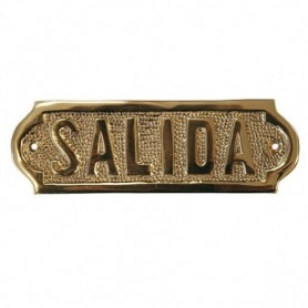 Placa náutica de latón Salida