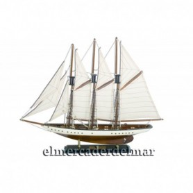 Maqueta de barco Goleta de tres palos