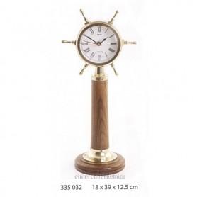 Reloj timón náutico de latón