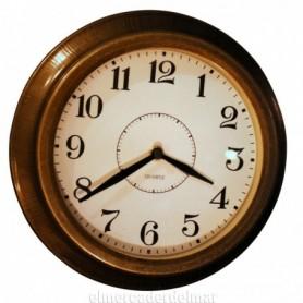 Reloj náutico de hierro latonado