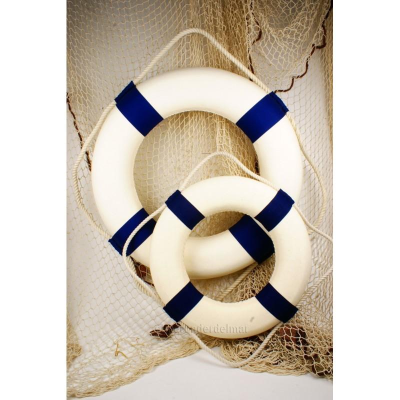 Salvavidas náutico decorativo color azul