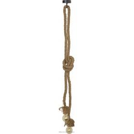 Lámpara de techo marinera con cabo de cañamo natural