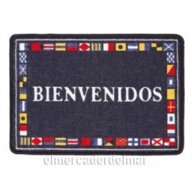 """Alfombra náutica """"bienvenidos"""""""