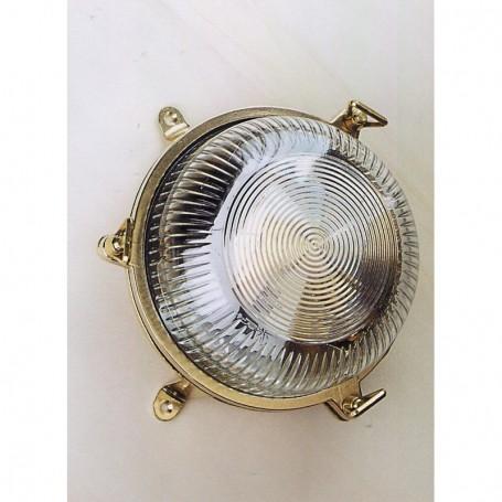 Aplique lámpara náutica redonda fundición latón