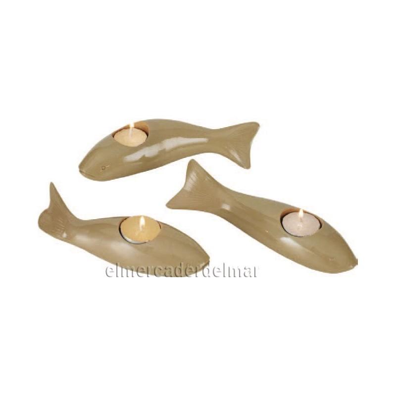 Portavelas marinero en forma de pez