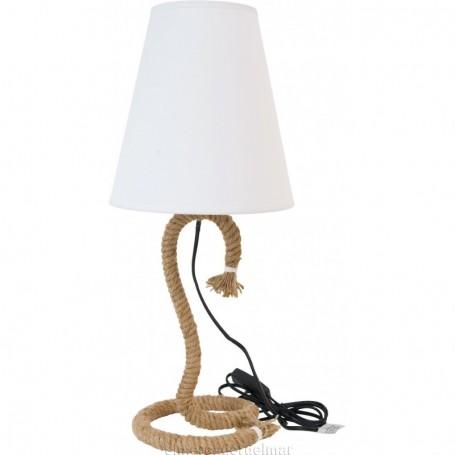 Lámpara de sobremesa de cabo náutico
