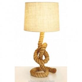 Lámpara marinera de sobremesa con cabo grueso
