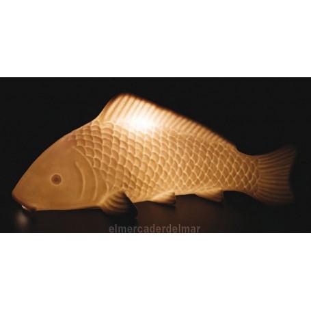 Iluminación náutica de sobremesa en forma de pez carpa