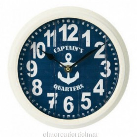 Reloj de pared náutico con ancla