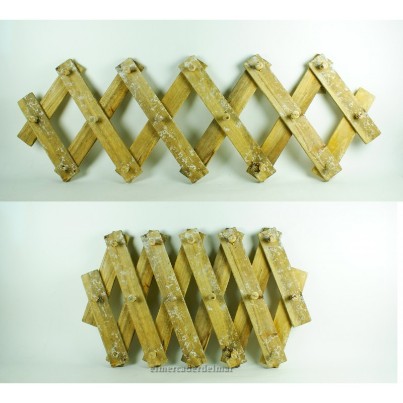 Colgador de madera rustica extensible for Colgadores de madera