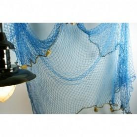 Red de pesca decorativa azul algodón