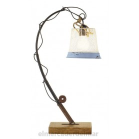 Lámpara marinera caña de pescar