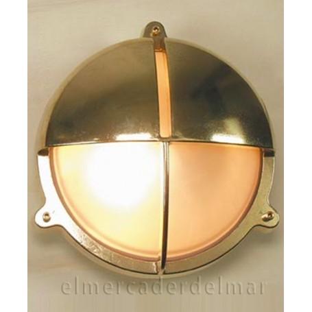 Aplique lámpara náutico redondo con visera