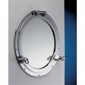 Espejo ojo de buey cromado
