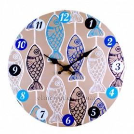 Reloj náutico peces
