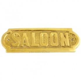 Placa náutica de latón Saloon en ingles