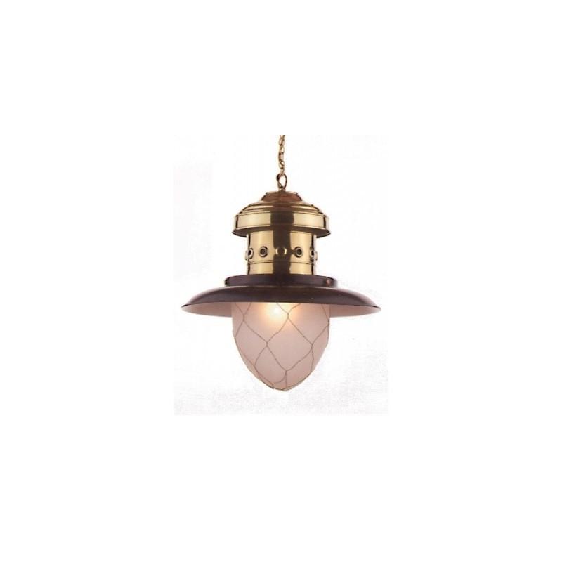 Lámpara marinera pescador latón
