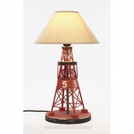 Lámpara marinera baliza en madera