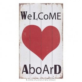 Cartel náutico Welcome a Board