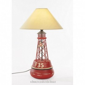 Lámpara náutica en baliza señalizaci´n