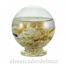 Bola de cristal con conchas