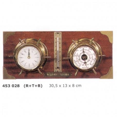 Estación meteorológica reloj