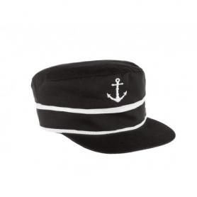 Gorra náutica con ancla