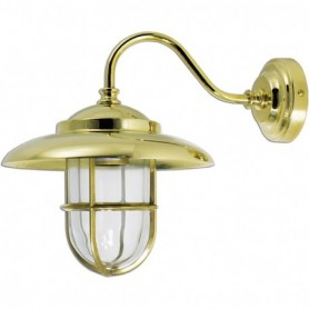 Lámpara aplique náutico de pared en latón