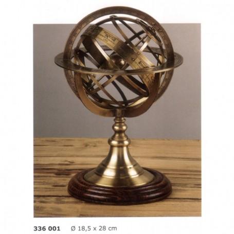 Astrolabio esférico en latón envejecido