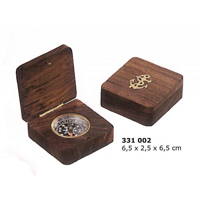 Br jula peque a encastada en caja de madera for Cajas de madera pequenas