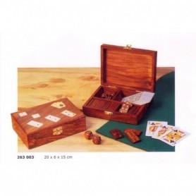 Caja juegos de mesa en madera