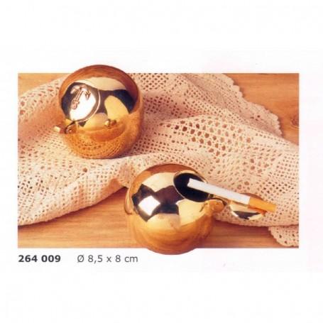 Cenicero de bola con anclita de latón