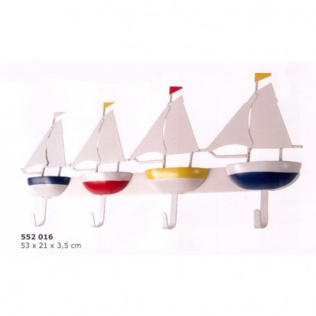 Colgador de barcos con cuatro ganchos