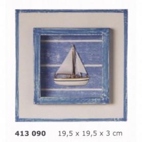 Cuadro decoración marina con velero
