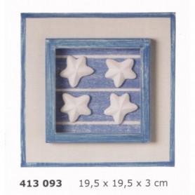 Cuadro decoración marina con estrellas de mar