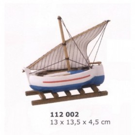 Maqueta naval de vela latina llagut