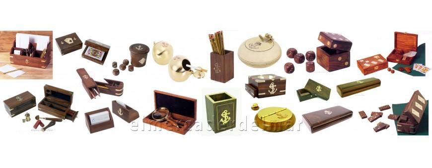 Cajas náuticas, juegos y ceniceros marineros