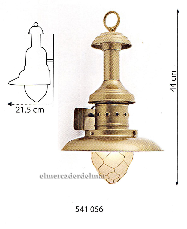 lámpara náutica de pescador aplique de pared en latón