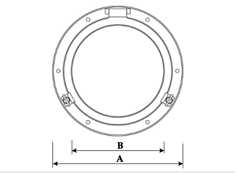 medidas ojo de buey espejo