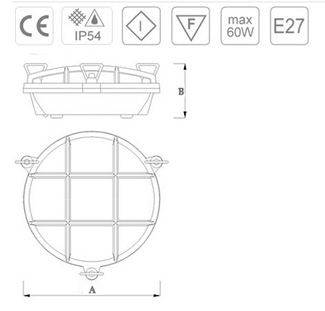 esquema de la lámpara náutica de tortuga