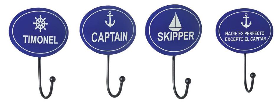 conjunto colgadores marineros con mensaje