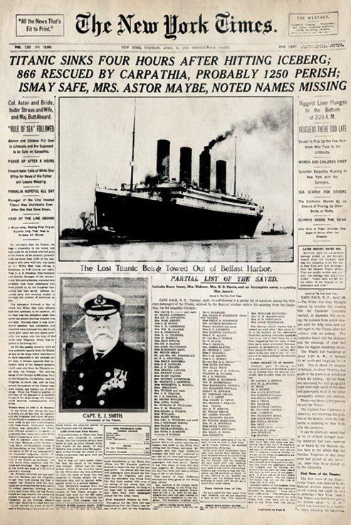 periodico titanic
