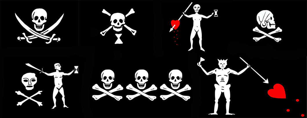 banderas piratas de la historia